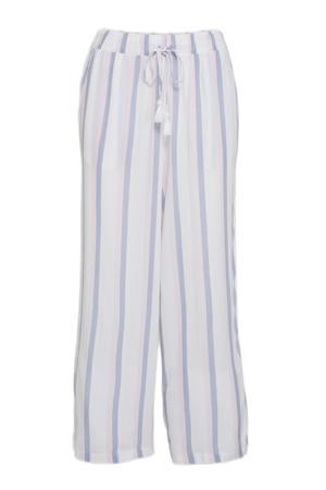 gestreepte pyjama wit/lichtblauw