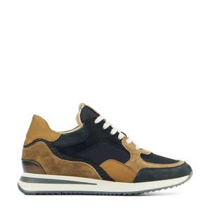 57116 Nora Sooth  suède sneakers zwart/bruin