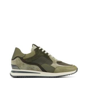 57116 Nora Sooth  suède sneakers groen/grijs