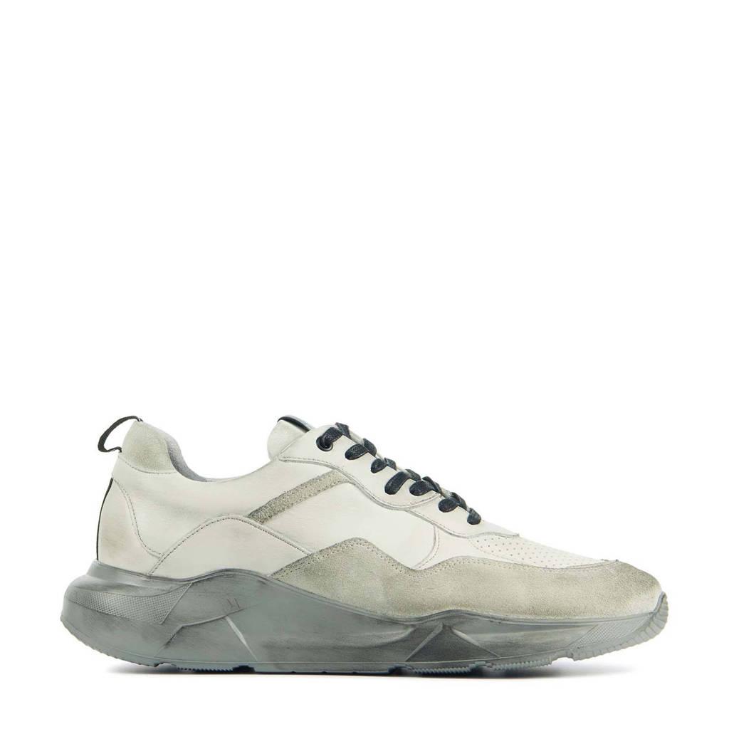 Blackstone TG43  leren chunky sneakers off white, Wit/Off white