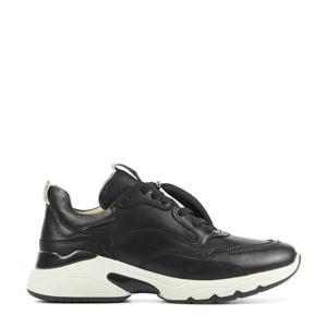 57115 Zaira Fae  leren chunky sneakers zwart