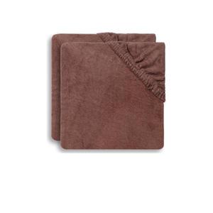 aankleedkussenhoes badstof 50x70cm - set van 2 chestnut