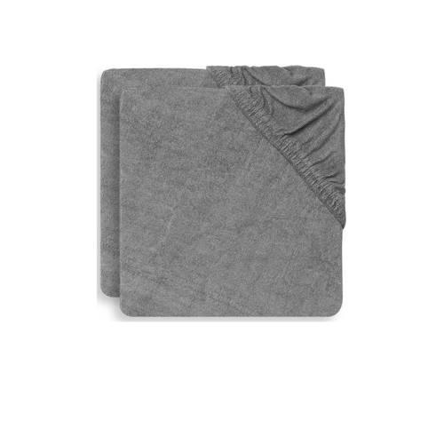 Jollein aankleedkussenhoes badstof 75x85cm - set van 2 Storm grey