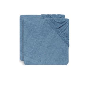 aankleedkussenhoes badstof 50x70cm - set van 2 blue
