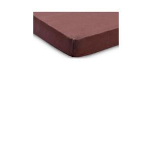 jersey ledikant hoeslaken 60x120cm chestnut