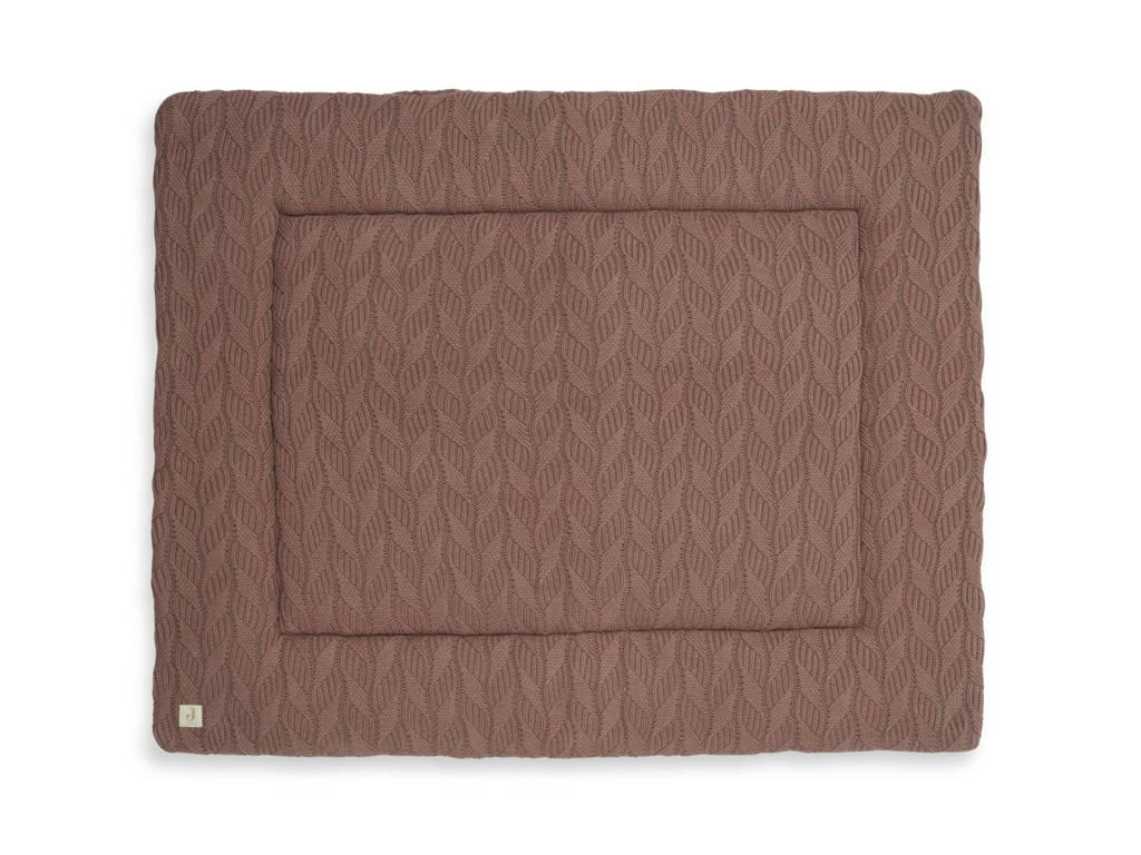 Jollein boxkleed 80x100cm Spring knit chestnut, Bruin