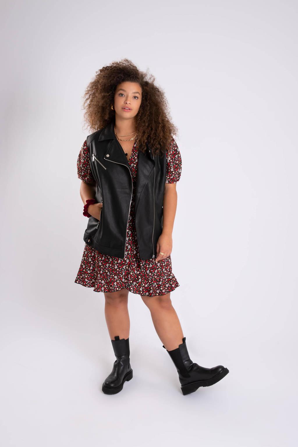 MS Mode bikerjack zwart, Zwart