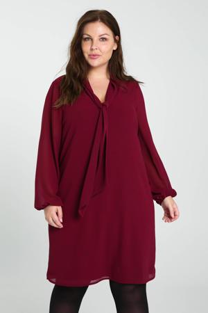semi-transparante jurk rood