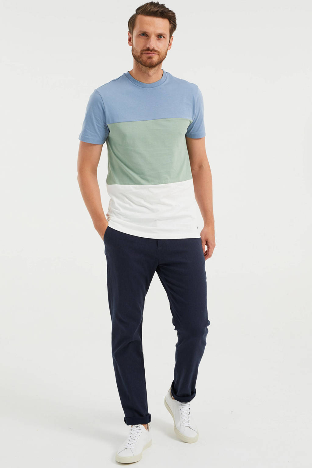 WE Fashion T-shirt heavy blue, Heavy Blue