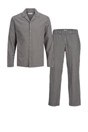 geruite pyjama JACLEO zwart/wit