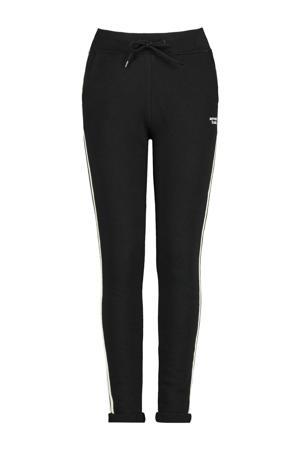 joggingbroek Celina met zijstreep zwart/wit