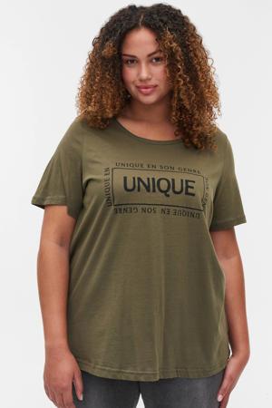 T-shirt EGUBBY met biologisch katoen groen
