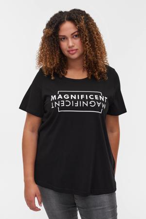 T-shirt EGUBBY met biologisch katoen zwart