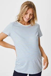 C&A gestreept zwangerschapsshirt blauw/wit, Blauw/wit