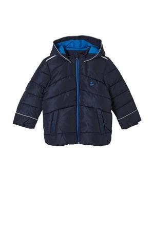 gewatteerde winterjas donkerblauw/blauw