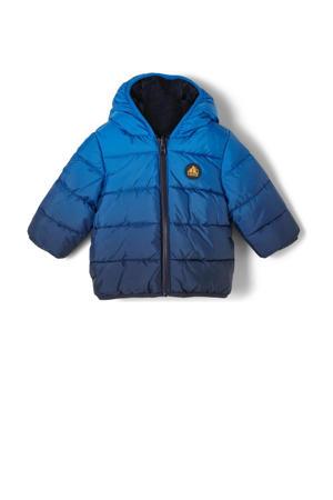 baby gewatteerde winterjas marine/blauw