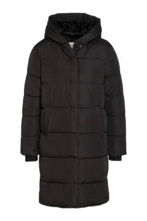 gewatteerde winterjas zwart