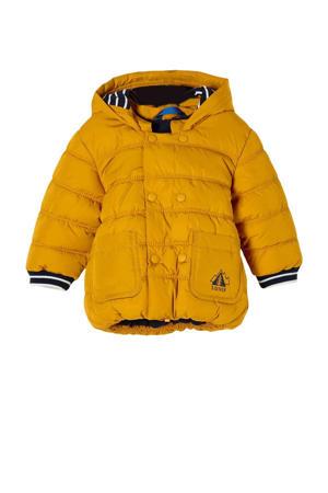 baby gewatteerde winterjas geel