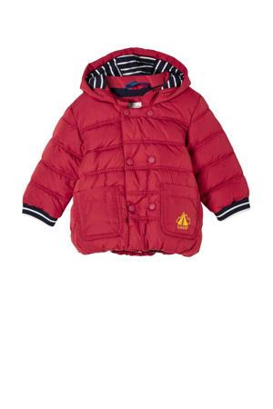 baby gewatteerde winterjas rood