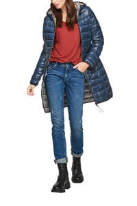 Q/S designed by gewatteerde jas blauw, Blauw