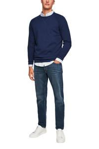 s.Oliver fijngebreide trui blauw, Blauw