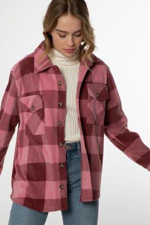geruite blouse Celestah rood/roze