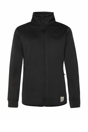 outdoor fleece vest Kumae zwart