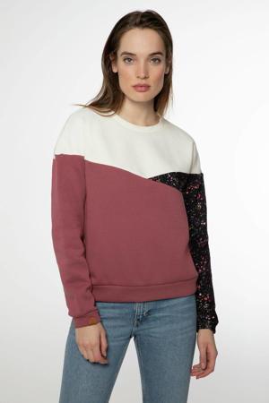 sweater Dreamy roze/wit/zwart