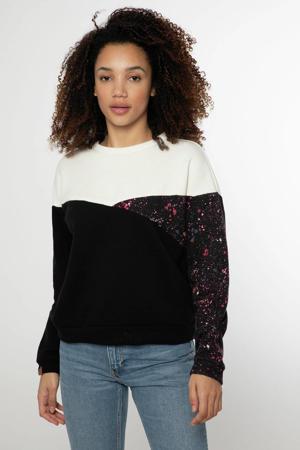 sweater Dreamy zwart/wit