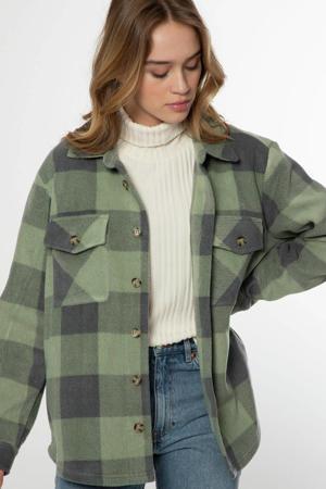 geruite blouse Celestah groen