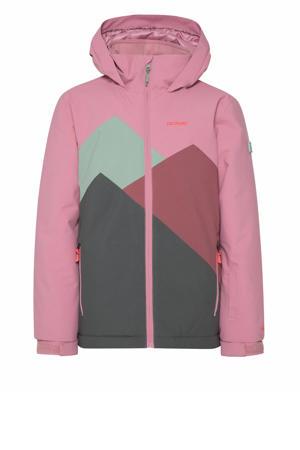 ski-jack Doutsen jr roze/groen/grijs