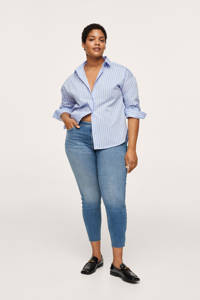 Mango Plus Size cropped skinny jeans light denim, Light denim