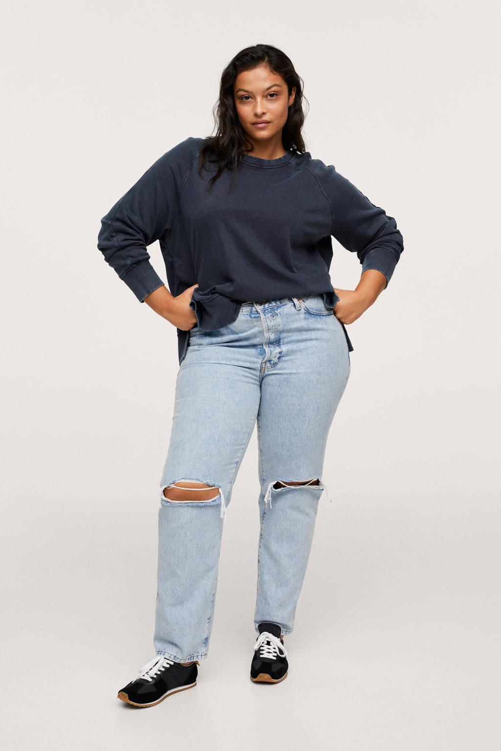 Mango Plus Size sweater donkerblauw, Donkerblauw