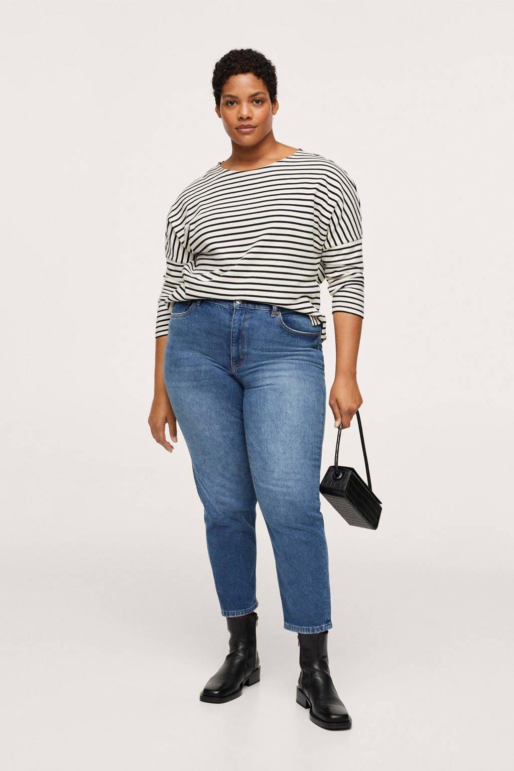 Mango Plus Size high waist mom jeans blauw, Blauw
