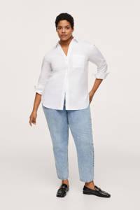 Mango Plus Size katoenen basis blouse wit, Wit