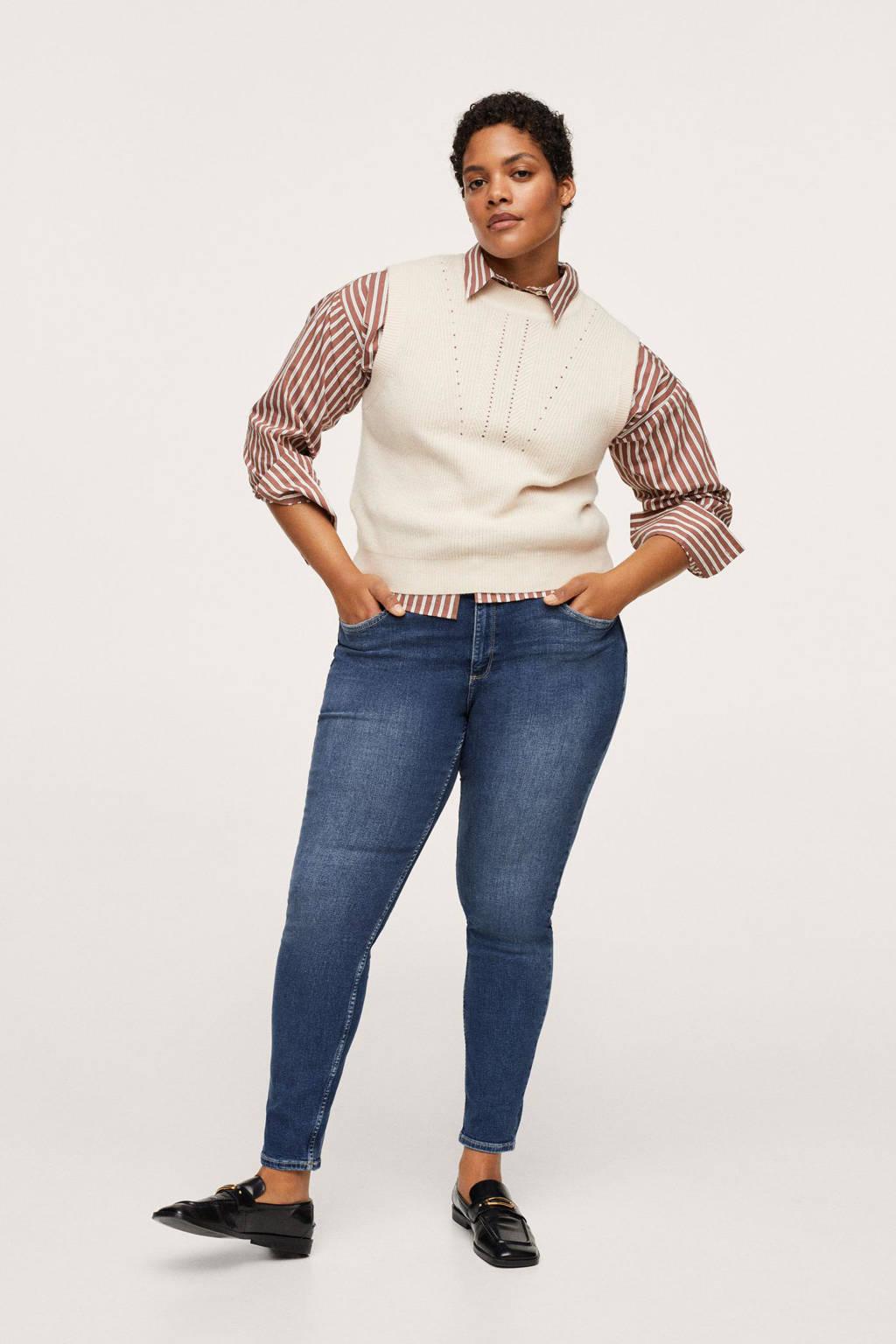 Mango Plus Size skinny jeans dark blue denim, Dark blue denim