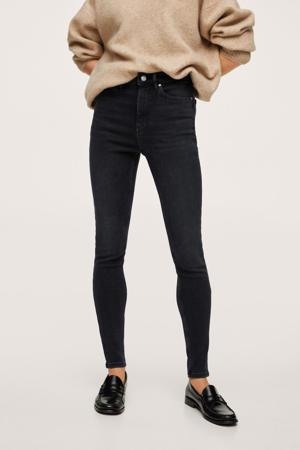 high waist skinny jeans donkergrijs