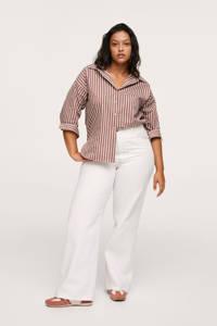 Mango Plus Size high waist straight fit jeans wit, Wit