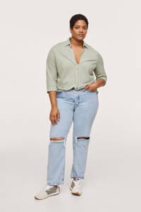 Mango Plus Size blouse mintgroen, Mintgroen