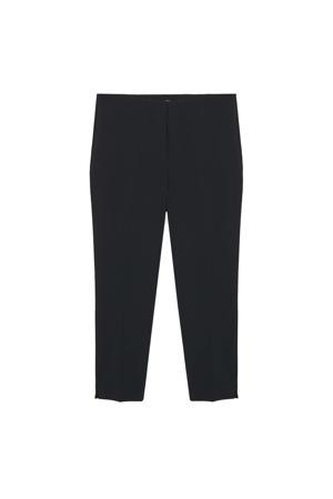 high waist straight fit pantalon zwart
