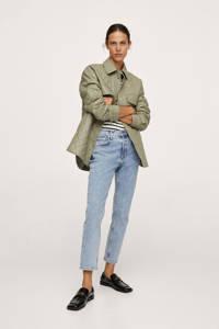 Mango slim fit cropped jeans light denim, Light denim