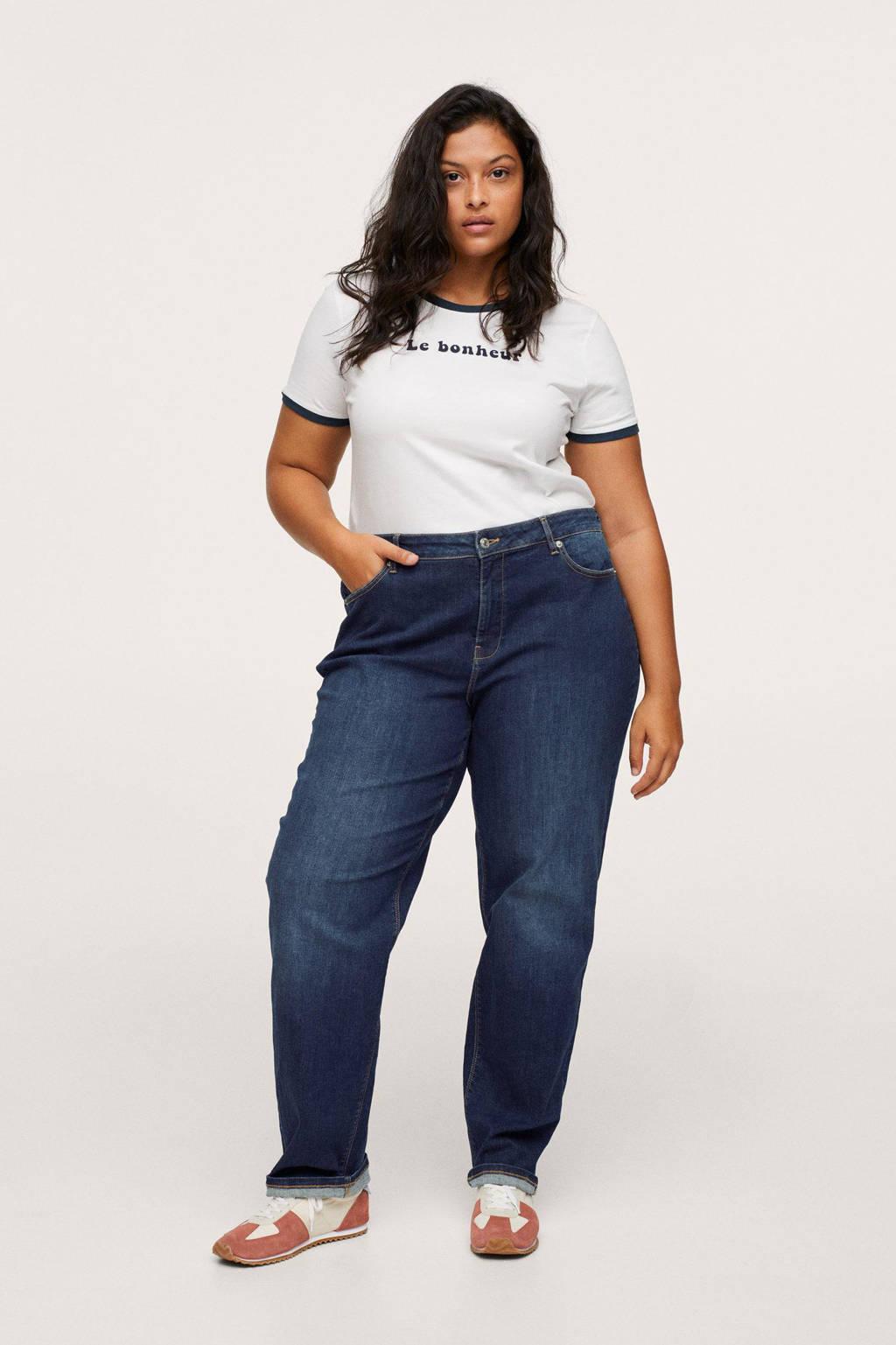 Mango Plus Size loose fit jeans dark denim, Dark denim