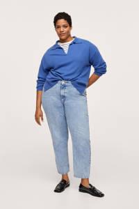 Mango Plus Size high waist straight fit jeans light blue denim, Light blue denim