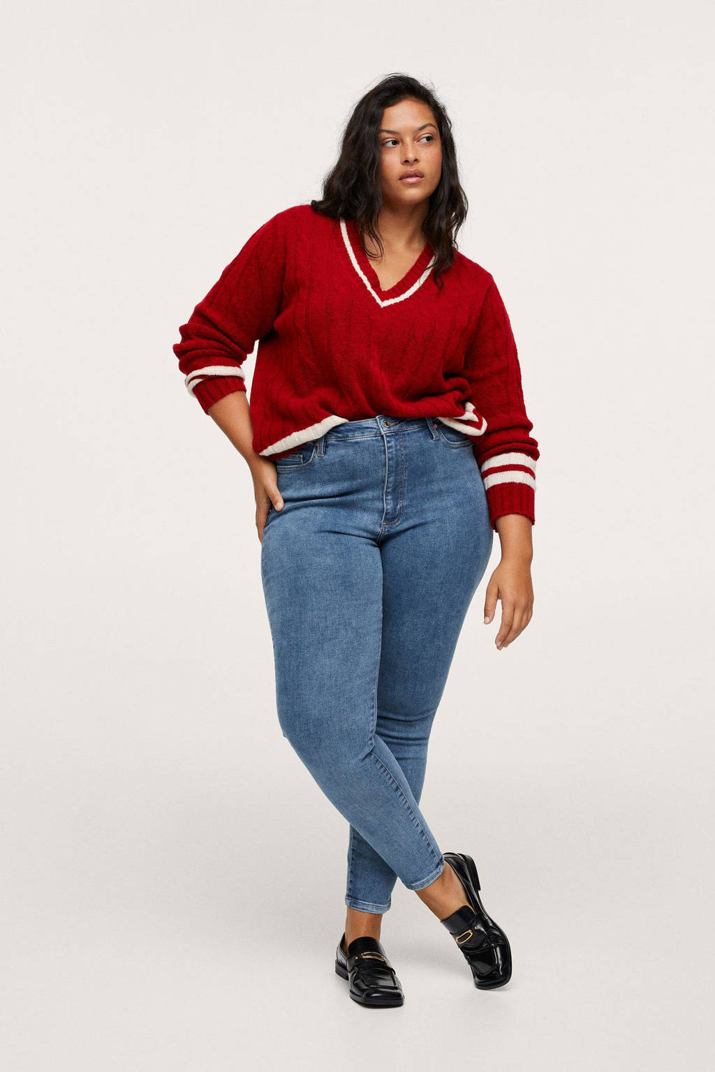Mango Plus Size high waist skinny jeans light denim, Light denim