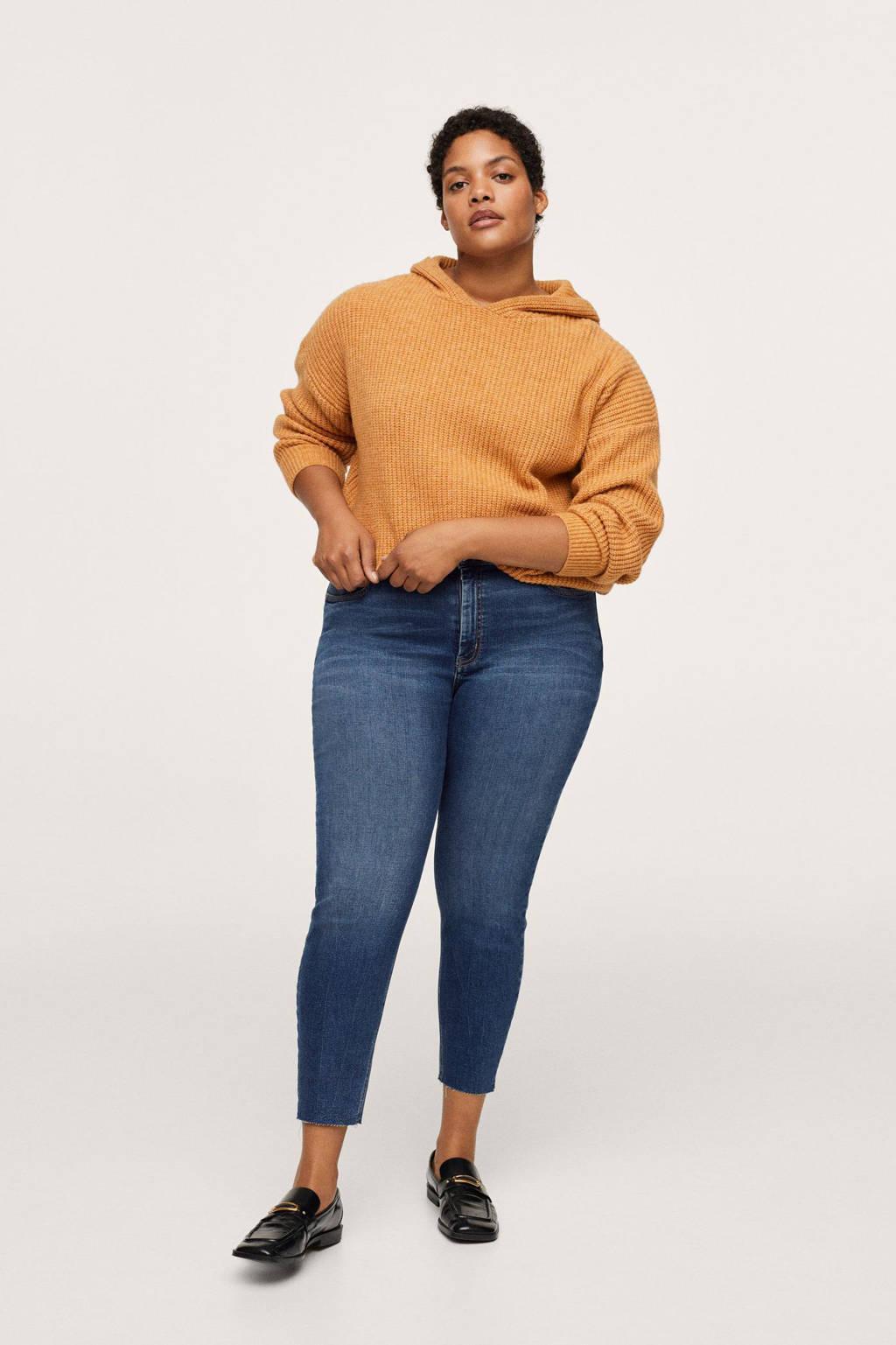 Mango Plus Size cropped skinny jeans dark denim, Dark denim