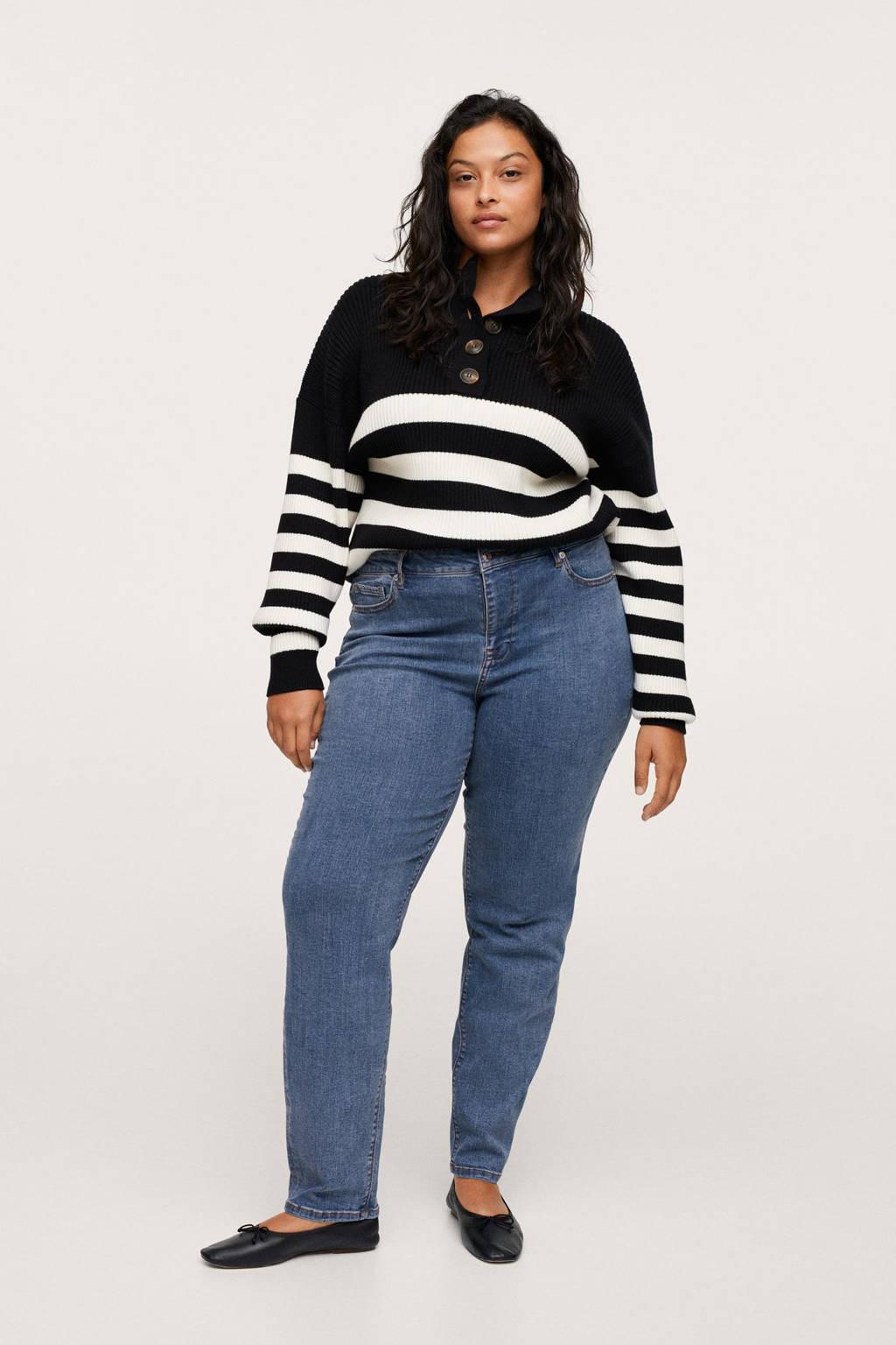 Mango Plus Size loose fit jeans light denim, Light denim