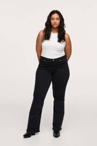 Mango Plus Size flared jeans zwart, Zwart