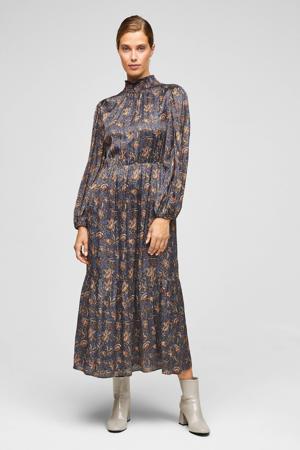maxi jurk met all over print paars