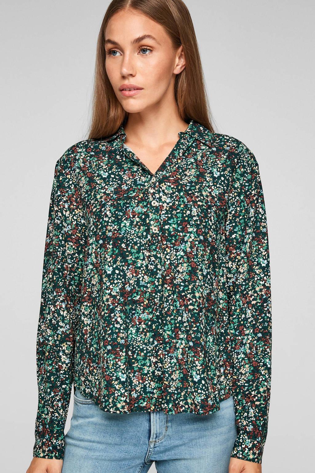 s.Oliver blouse met all over print groen, Groen