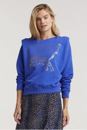 sweater Tiger van biologisch katoen blauw
